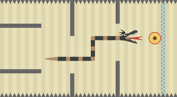 Snake Runner: Crazy Fruit Rush - a fast paced HTML5 endless runner game