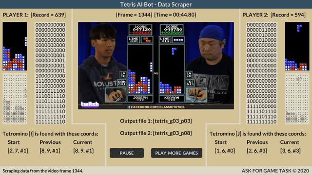 Tetris Data Scraper Tool
